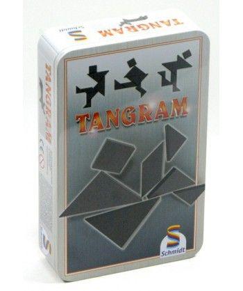 Logiczne - Tangram w metalowej puszce