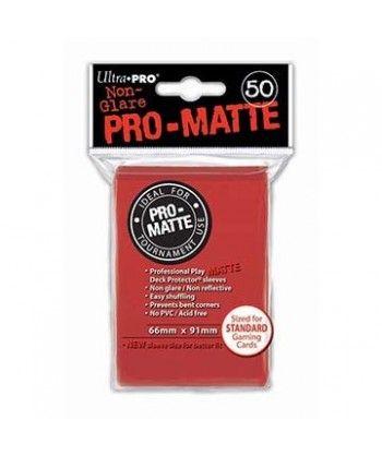Ultra-Pro - Deck Protector: Pro-Matte Non-Glare Czerwony