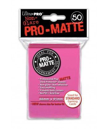 Ultra-Pro - Deck Protector: Pro-Matte Non-Glare Jaskrawo-różowy