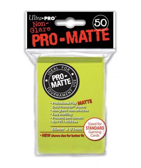 Ultra-Pro - Deck Protector: Pro-Matte Non-Glare Jaskrawo żółty