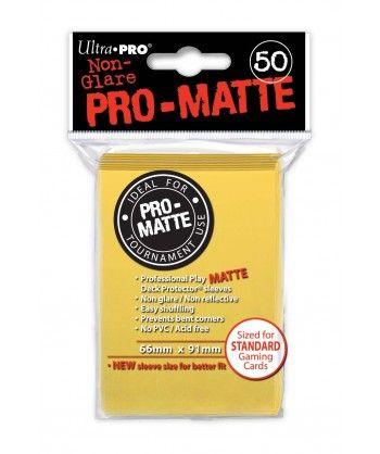 Ultra-Pro - Deck Protector: Pro-Matte Non-Glare Żółty