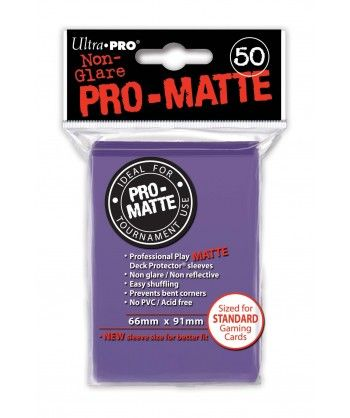 Ultra-Pro - Deck Protector: Pro-Matte Non-Glare Fioletowy