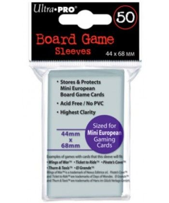 Ultra-Pro - Board Game Sleeves - Mini European