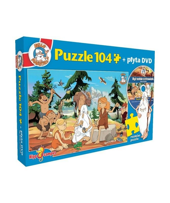 Dla dzieci - Puzzle Był sobie człowiek + DVD