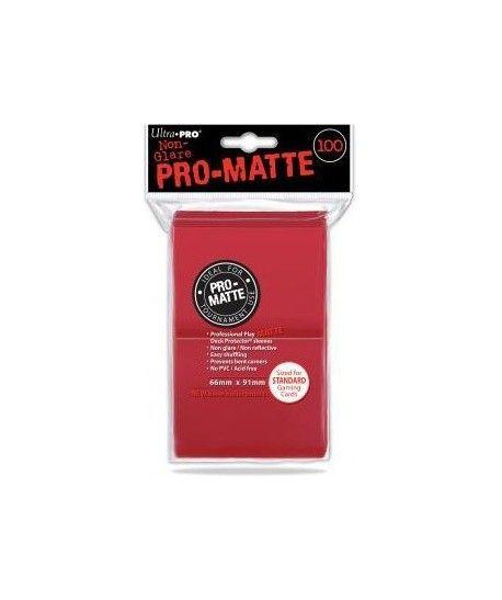 Ultra-Pro - Deck Protector - Pro-Matte Non-Glare Red (Czerwone) 100
