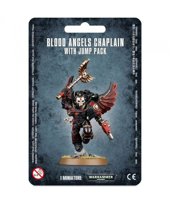 Space Marines - Blood Angels Chaplain With Jump Pack