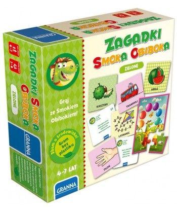 Dla dzieci - Zagadki Smoka Obiboka zielone