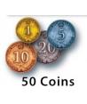 Rococo Deluxe - Metalowe monety do gry Rococo